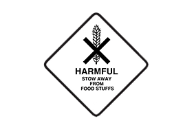 Harmful, do not stow with food