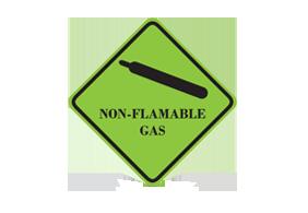 Non-flamable gas